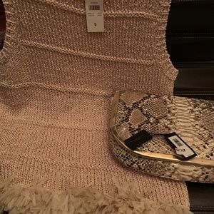 NWT~ Ann Taylor~ Gold Knit w/ Tulle Bottom